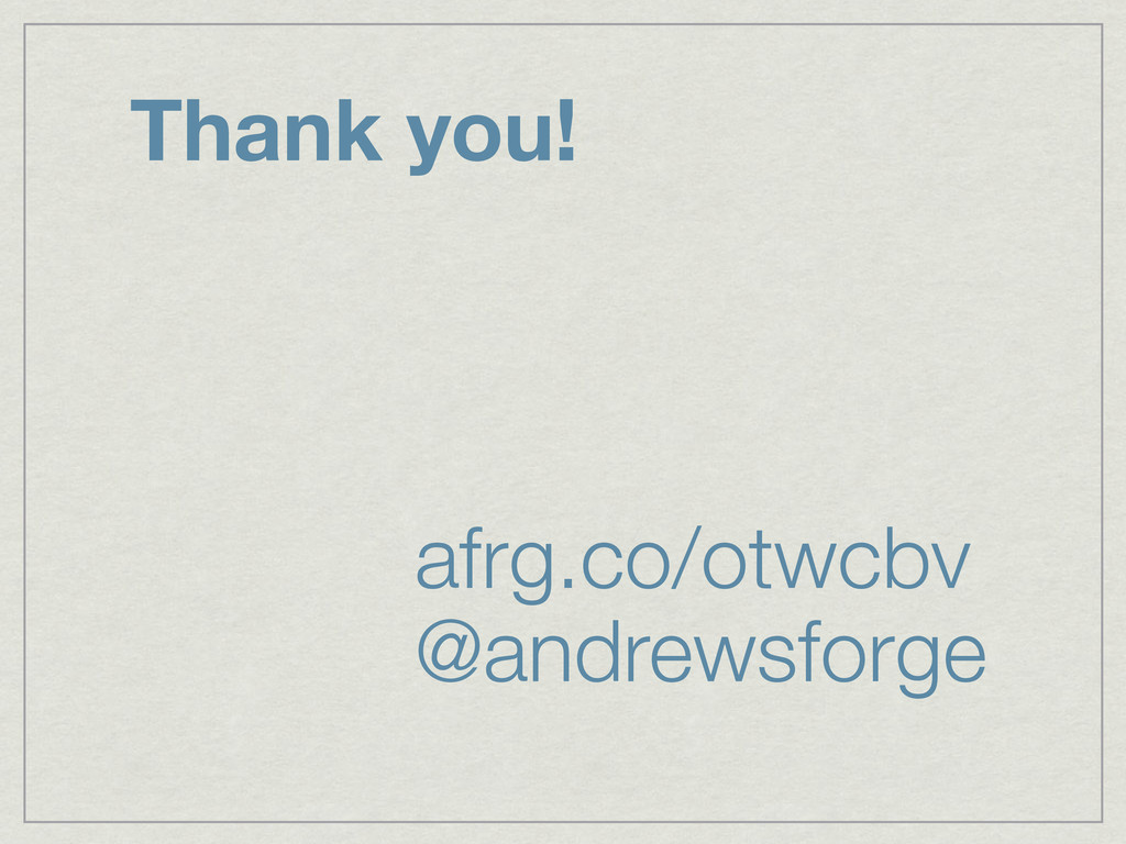 Thank you! afrg.co/otwcbv @andrewsforge