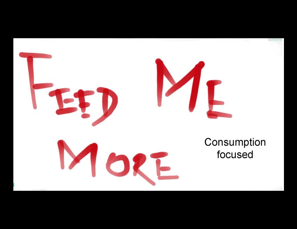 13 Consumption focused