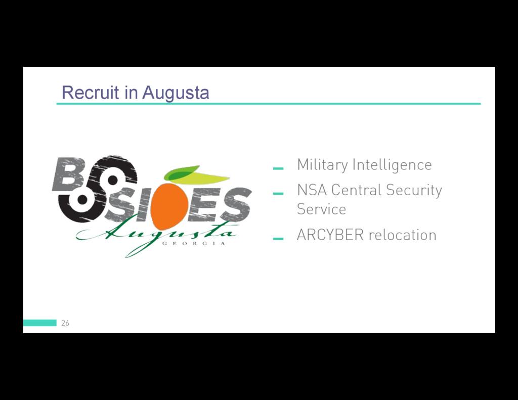 Recruit in Augusta 26  Military Intelligence ...