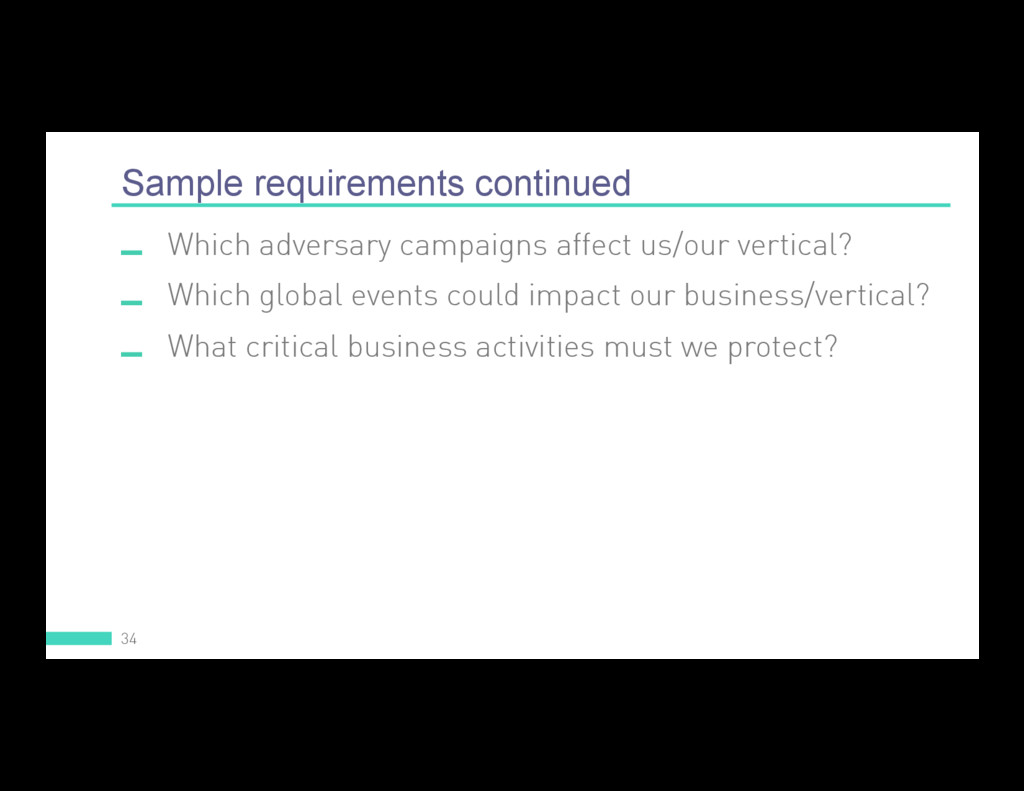 Sample requirements continued 34  Which advers...