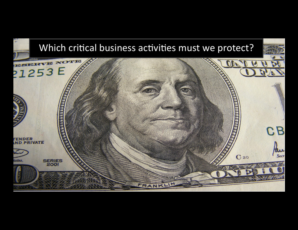 39 Which criBcal business acBviBes must we prot...