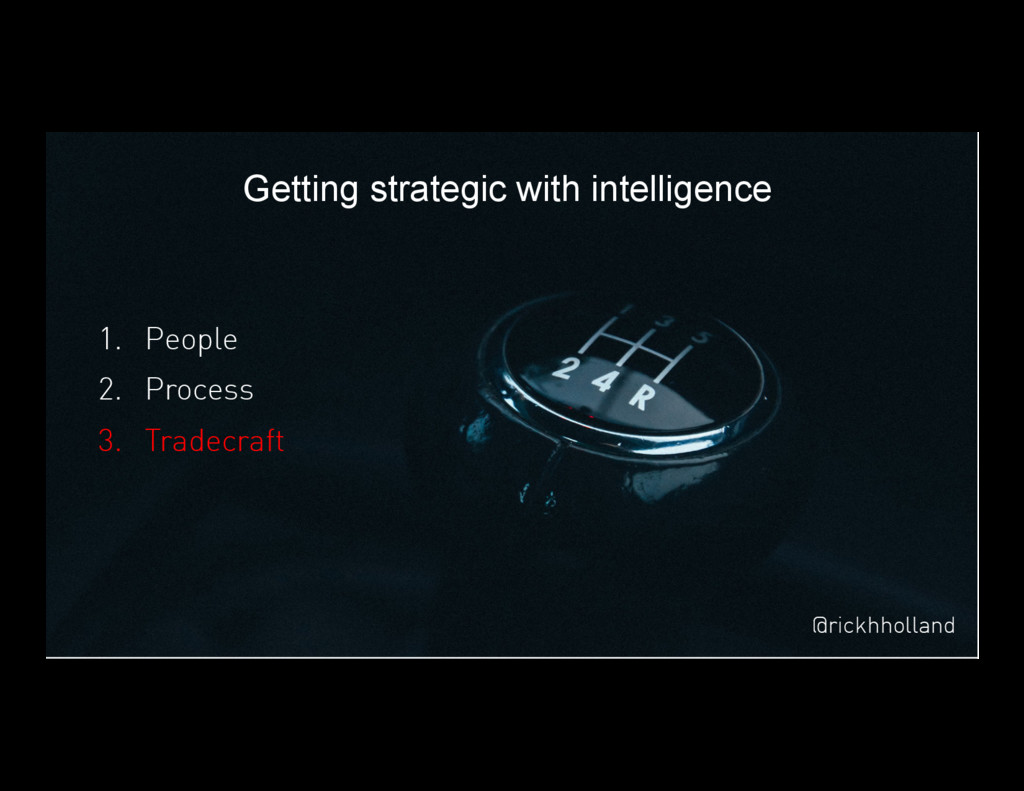 50 Getting strategic with intelligence 1. Peop...