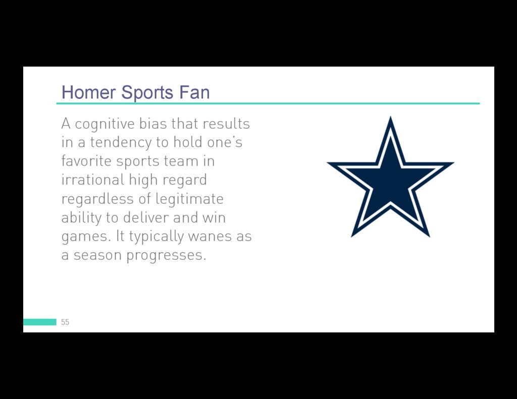 Homer Sports Fan 55 A cognitive bias that resul...