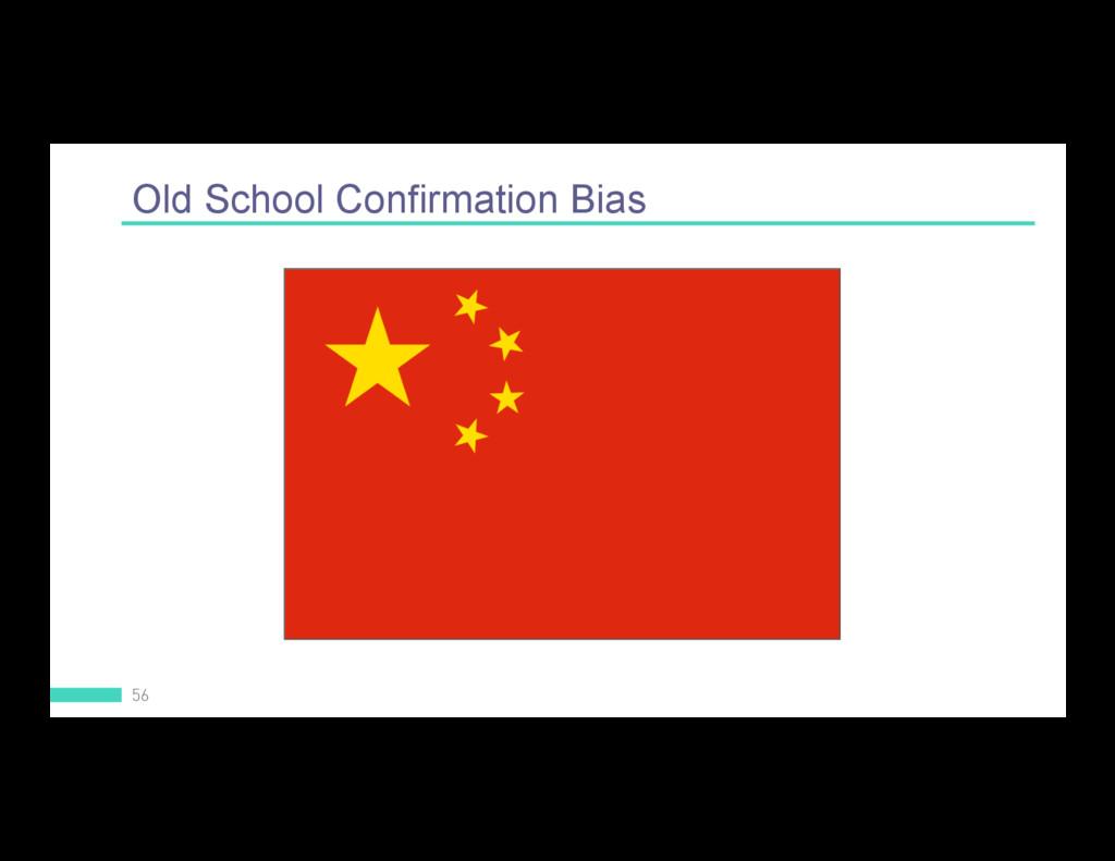 Old School Confirmation Bias 56