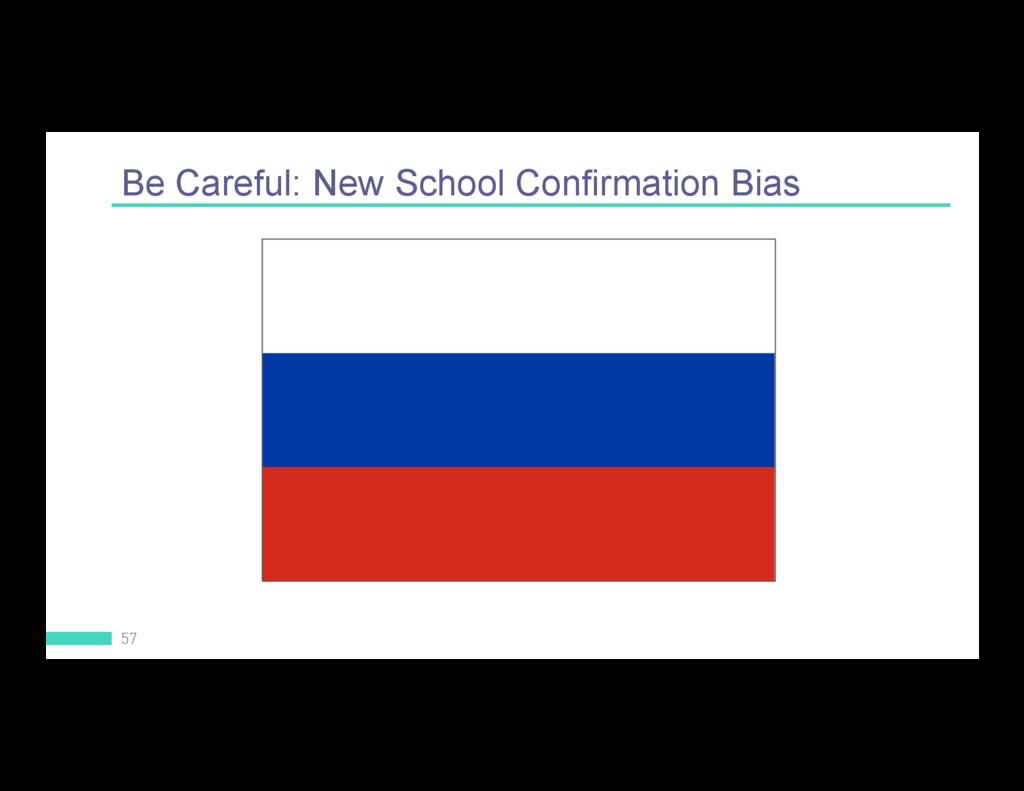 Be Careful: New School Confirmation Bias 57