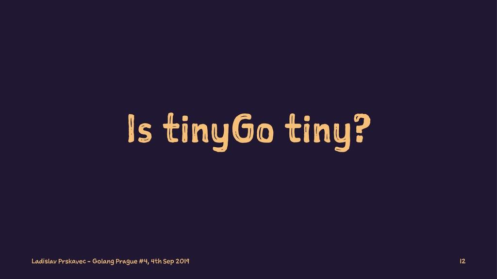 Is tinyGo tiny? Ladislav Prskavec - Golang Prag...