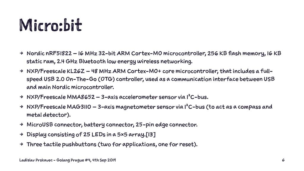 Micro:bit 4 Nordic nRF51822 – 16 MHz 32-bit ARM...