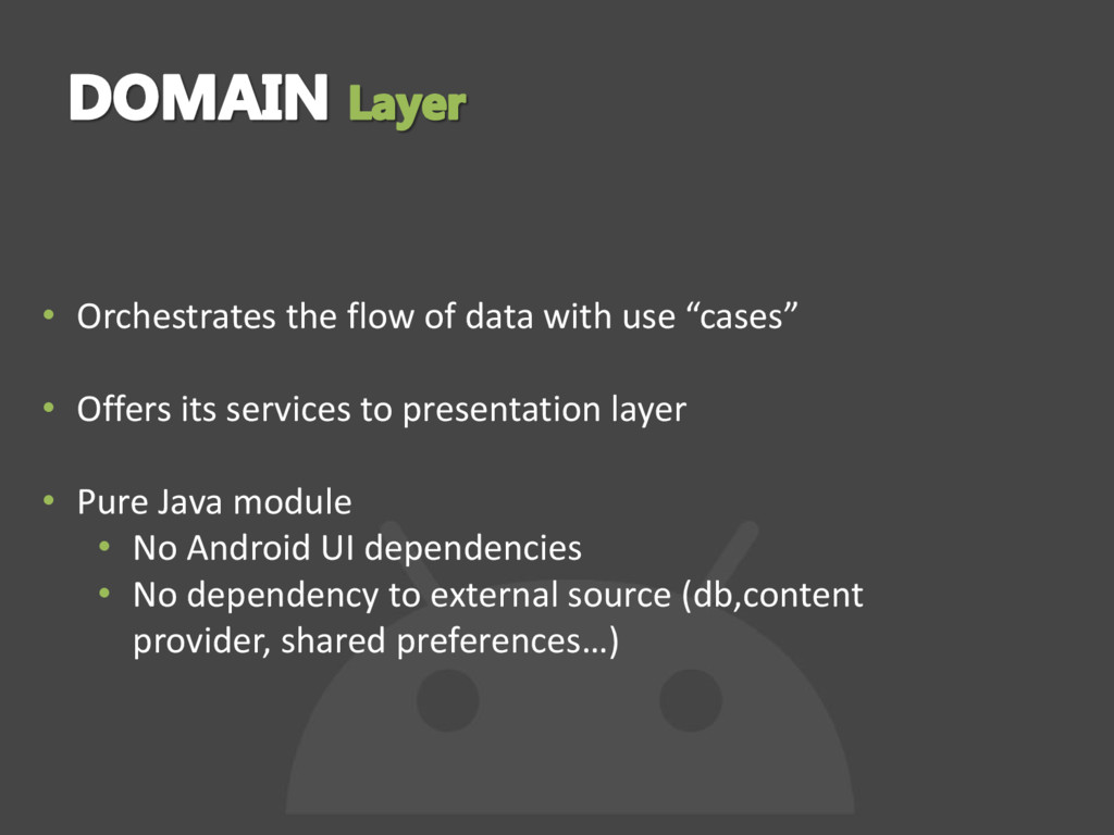 """• Orchestrates the flow of data with use """"cases..."""