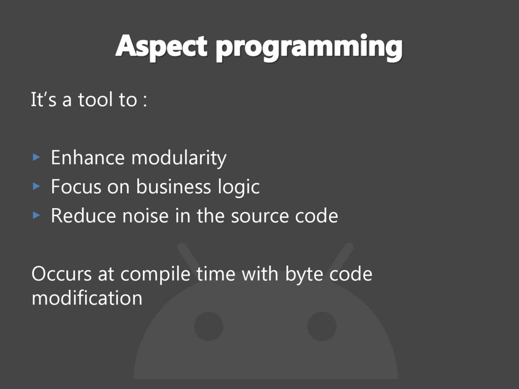 It's a tool to : ▸ Enhance modularity ▸ Focus o...