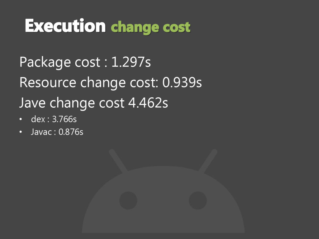 Package cost : 1.297s Resource change cost: 0.9...