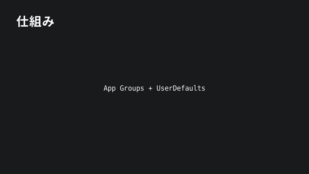 仕組み App Groups + UserDefaults