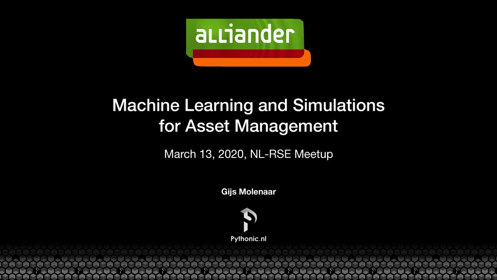 Machine Learning and Simulations for Asset Mana...
