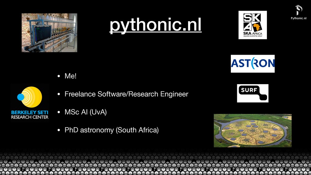 pythonic.nl • Me!  • Freelance Software/Researc...