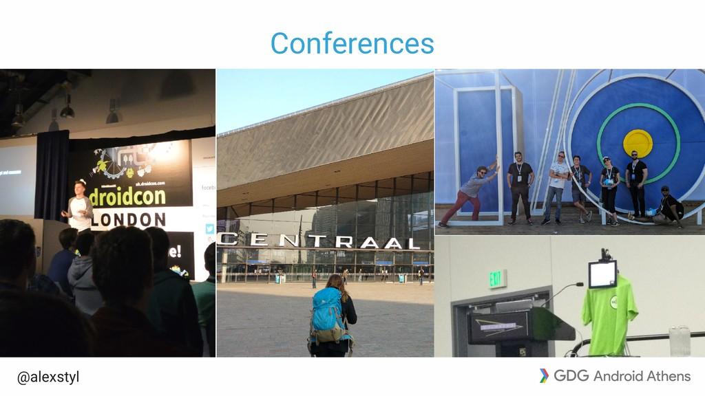 @alexstyl Conferences