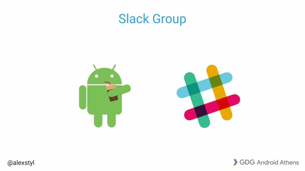 @alexstyl Slack Group