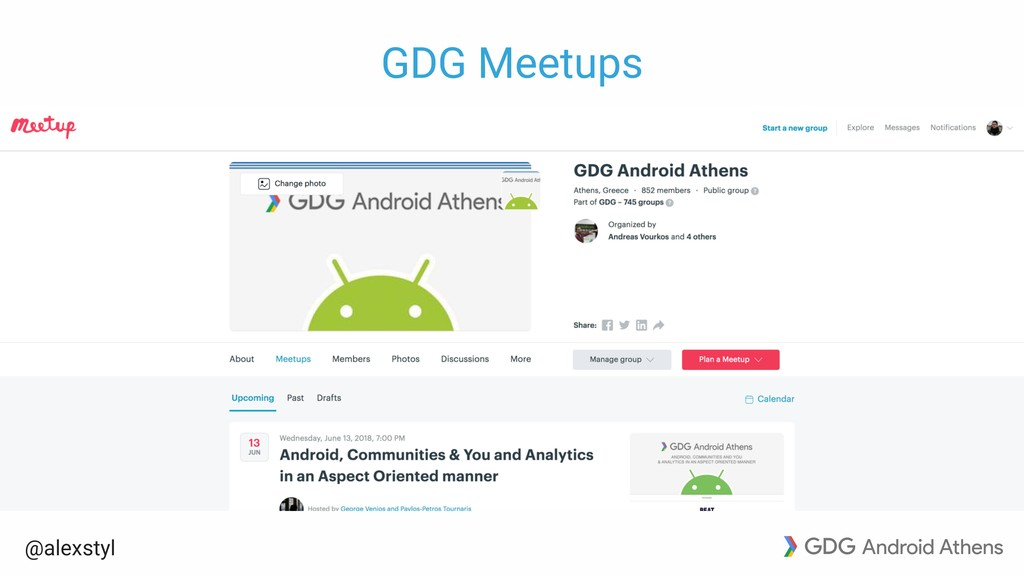 @alexstyl GDG Meetups