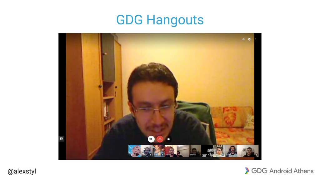 @alexstyl GDG Hangouts