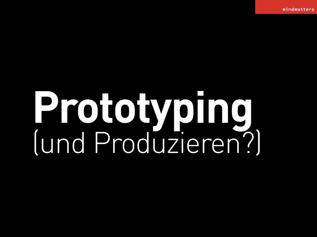 Prototyping (und Produzieren?)