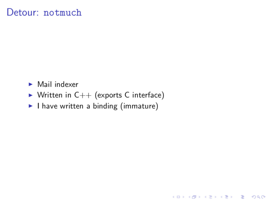Detour: notmuch Mail indexer Written in C++ (ex...