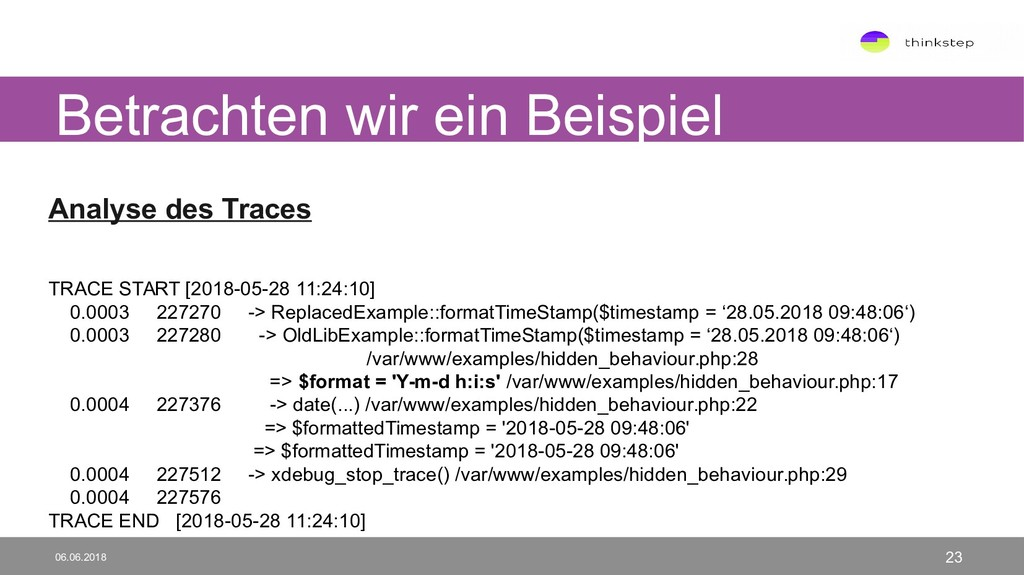 Analyse des Traces TRACE START [2018-05-28 11:2...