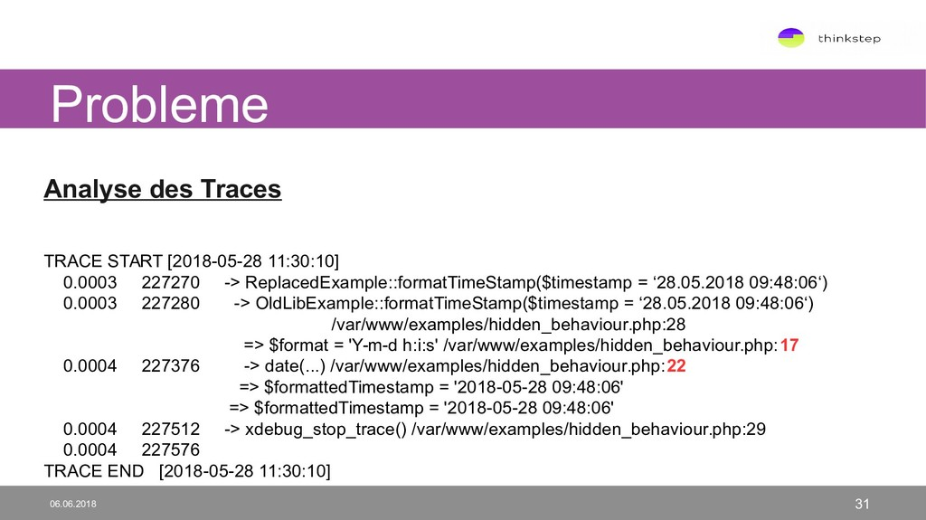 Analyse des Traces TRACE START [2018-05-28 11:3...