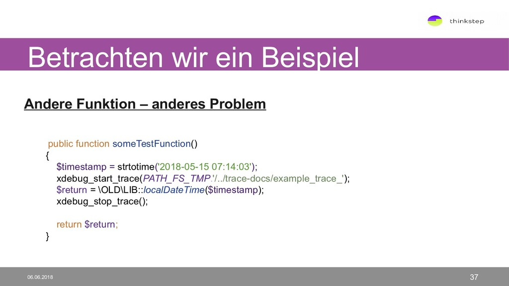 Andere Funktion – anderes Problem public functi...