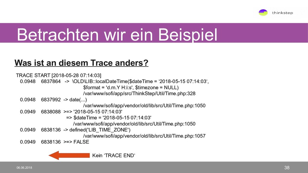 Was ist an diesem Trace anders? TRACE START [20...