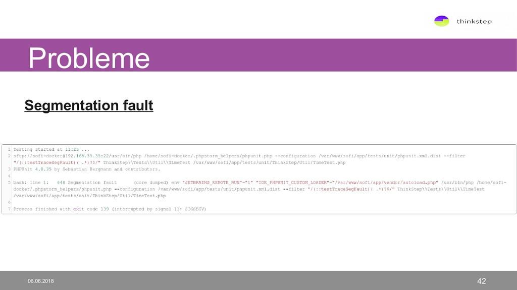 Segmentation fault Probleme 06.06.2018 42