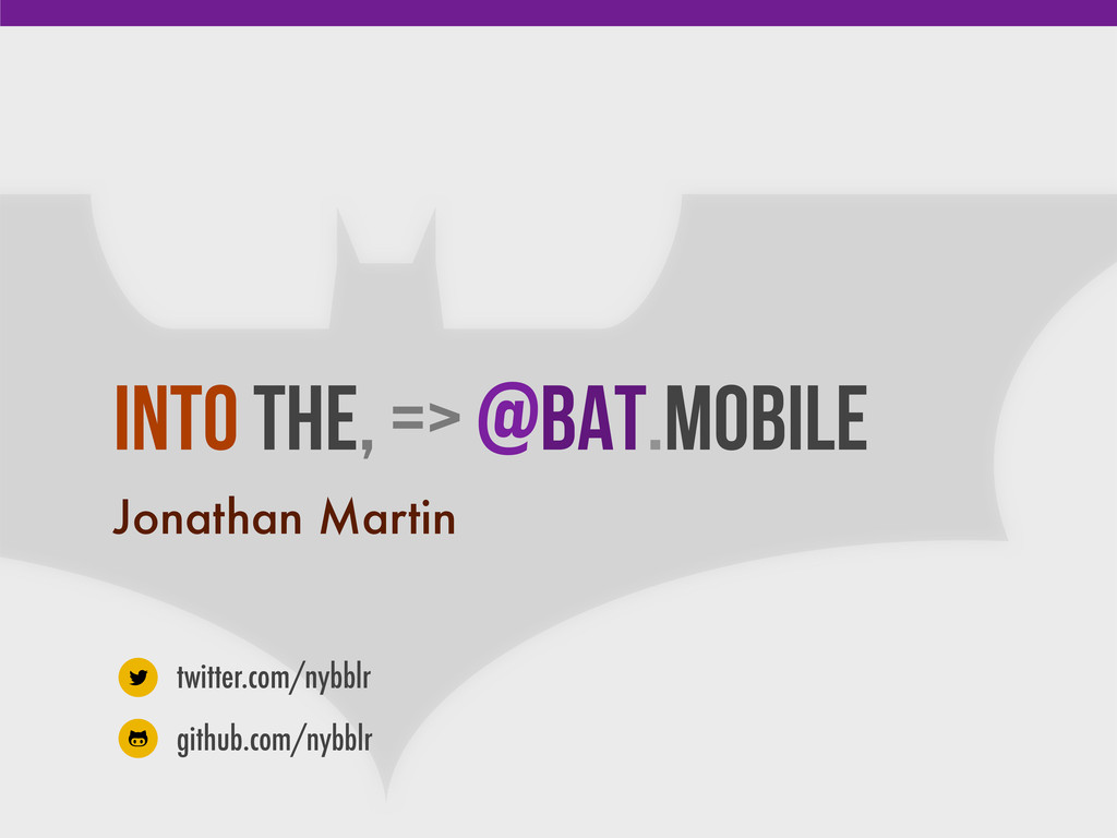 Into the, => @Bat.mobile Jonathan Martin twitte...