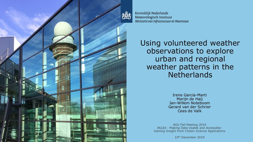 Using volunteered weather observations to explo...