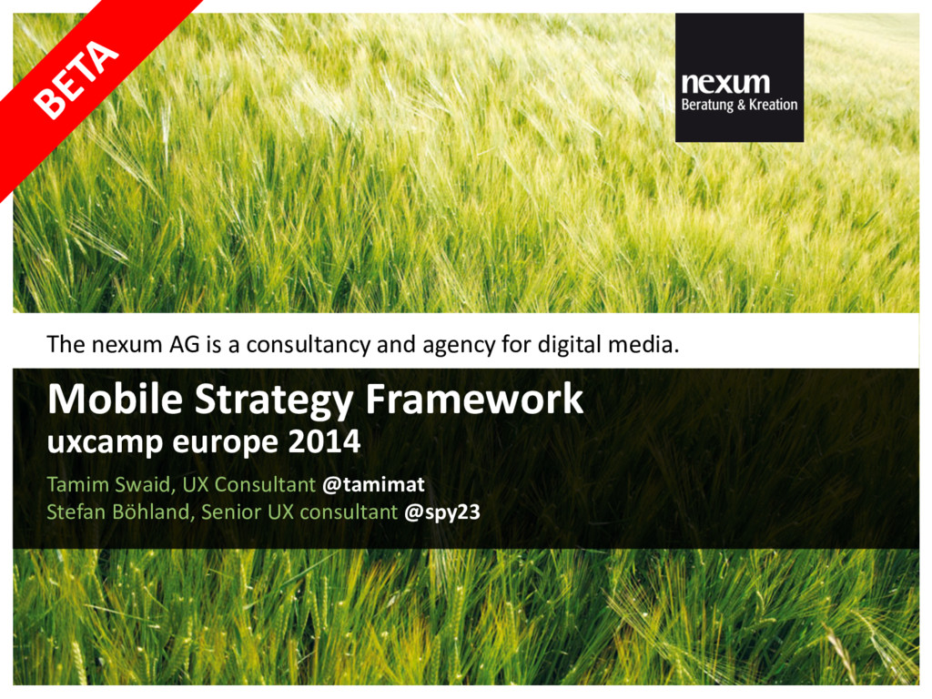 The nexum AG is a consultancy and agency for di...
