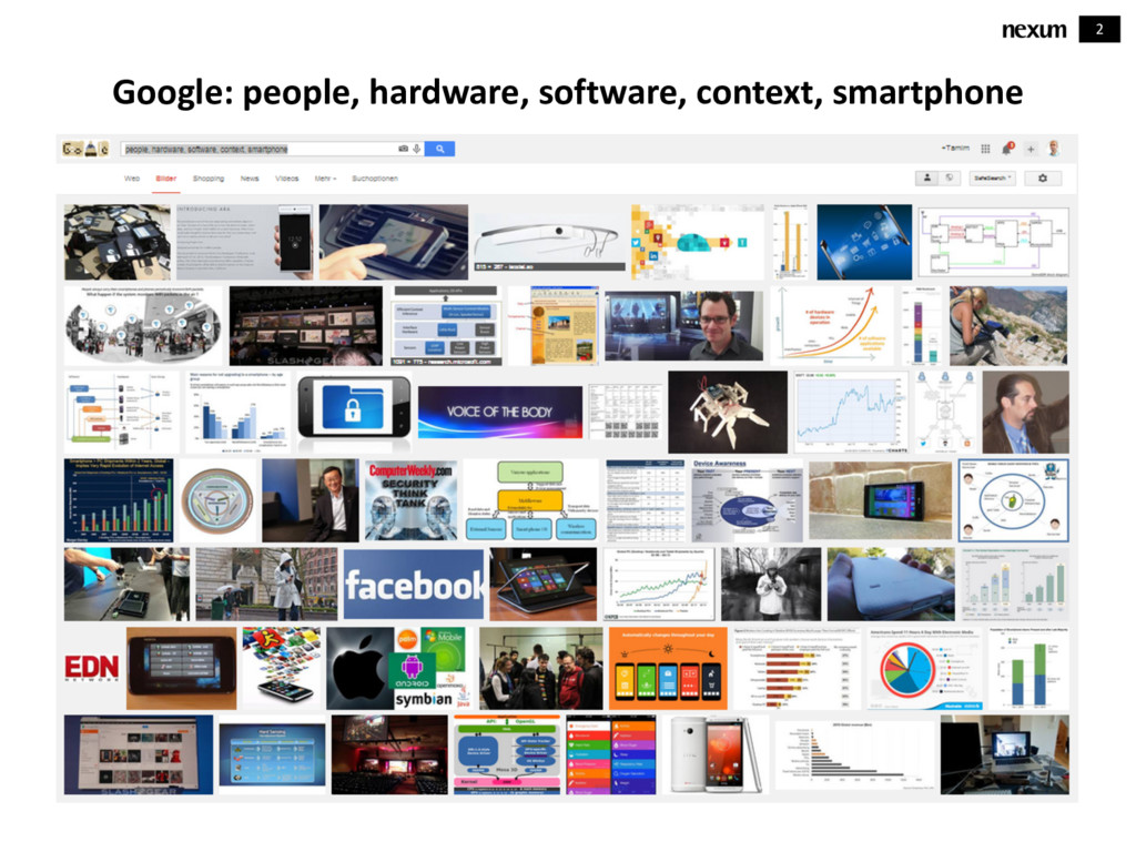2 Google: people, hardware, software, context, ...