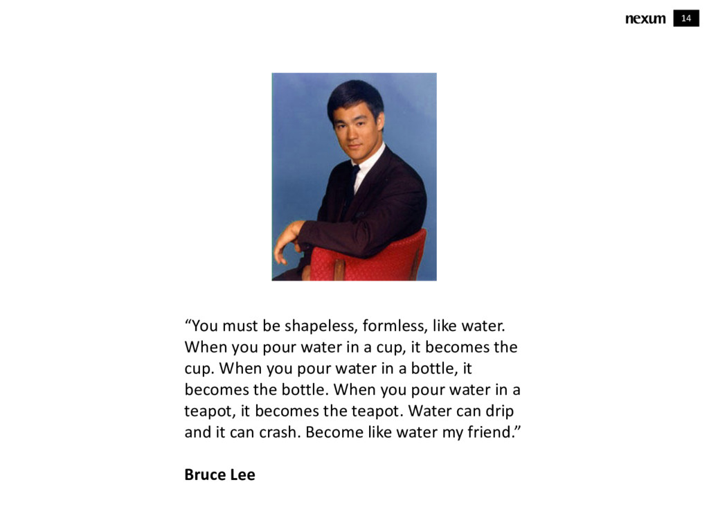 """14 """"You must be shapeless, formless, like water..."""