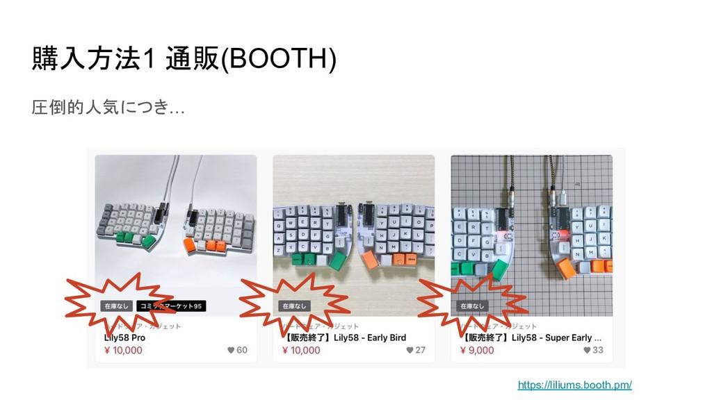 購入方法1 通販(BOOTH) 圧倒的人気につき… https://liliums.booth...