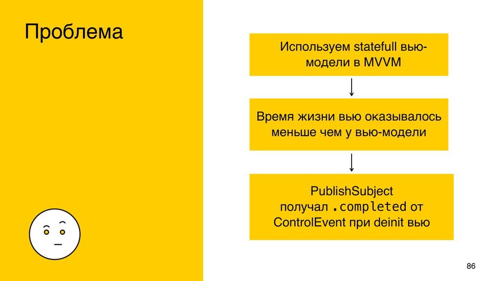 Используем statefull вью- модели в MVVM Проблем...