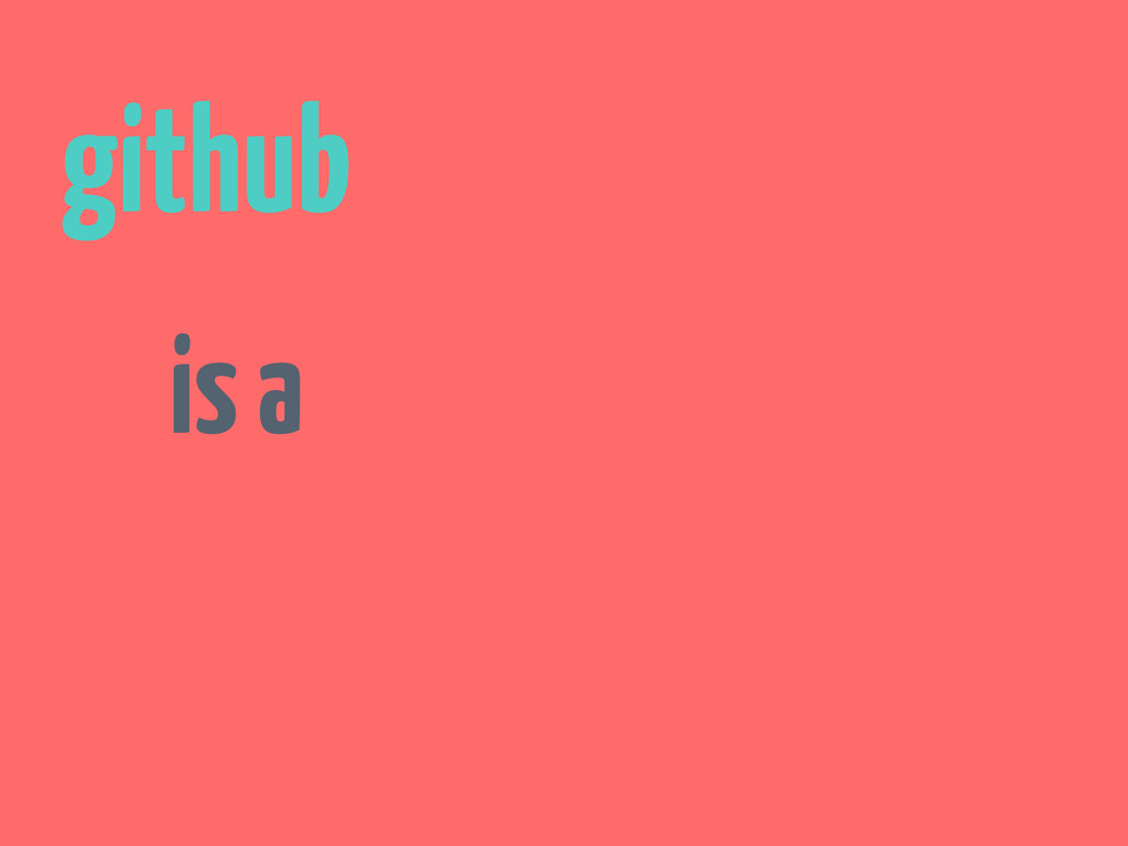 github is a