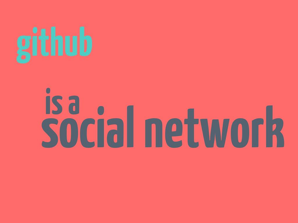 github is a social network