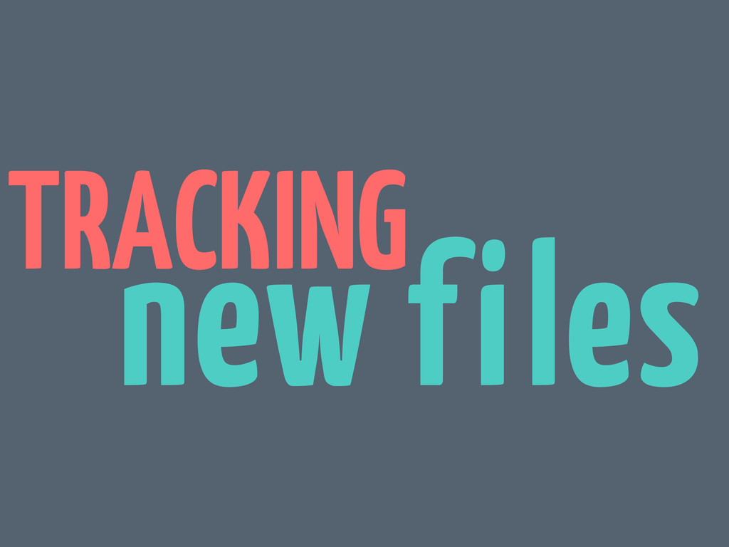 TRACKING new files