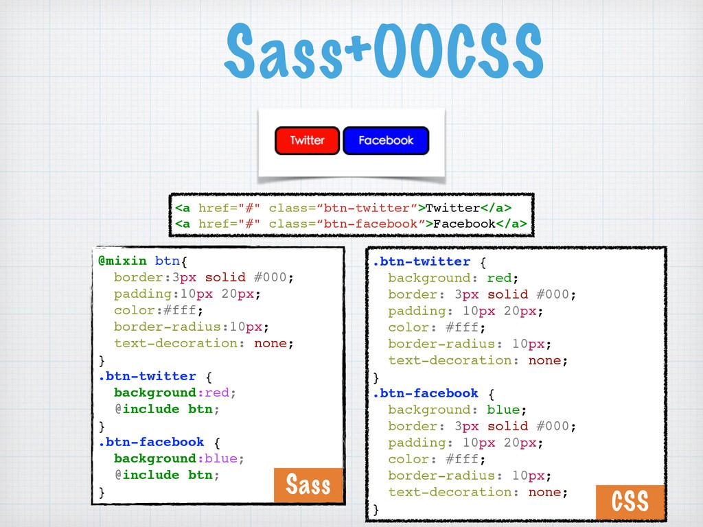 """Sass+OOCSS <a href=""""#"""" class=""""btn-twitter"""">Twi..."""