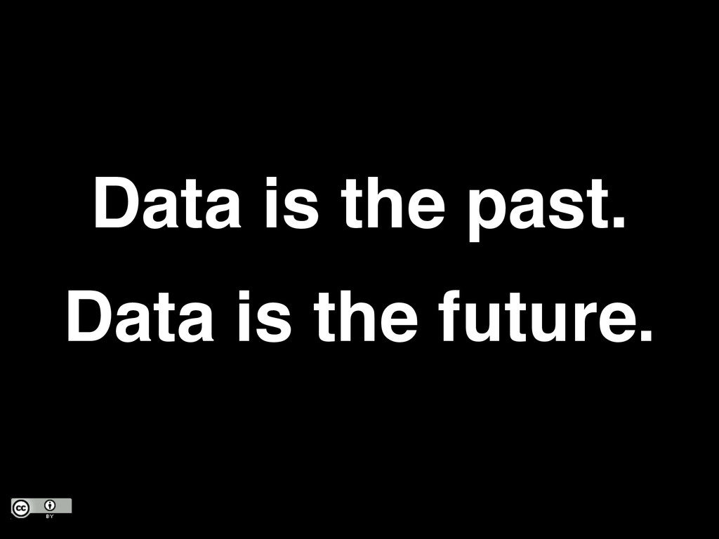 Data is the past.! Data is the future.