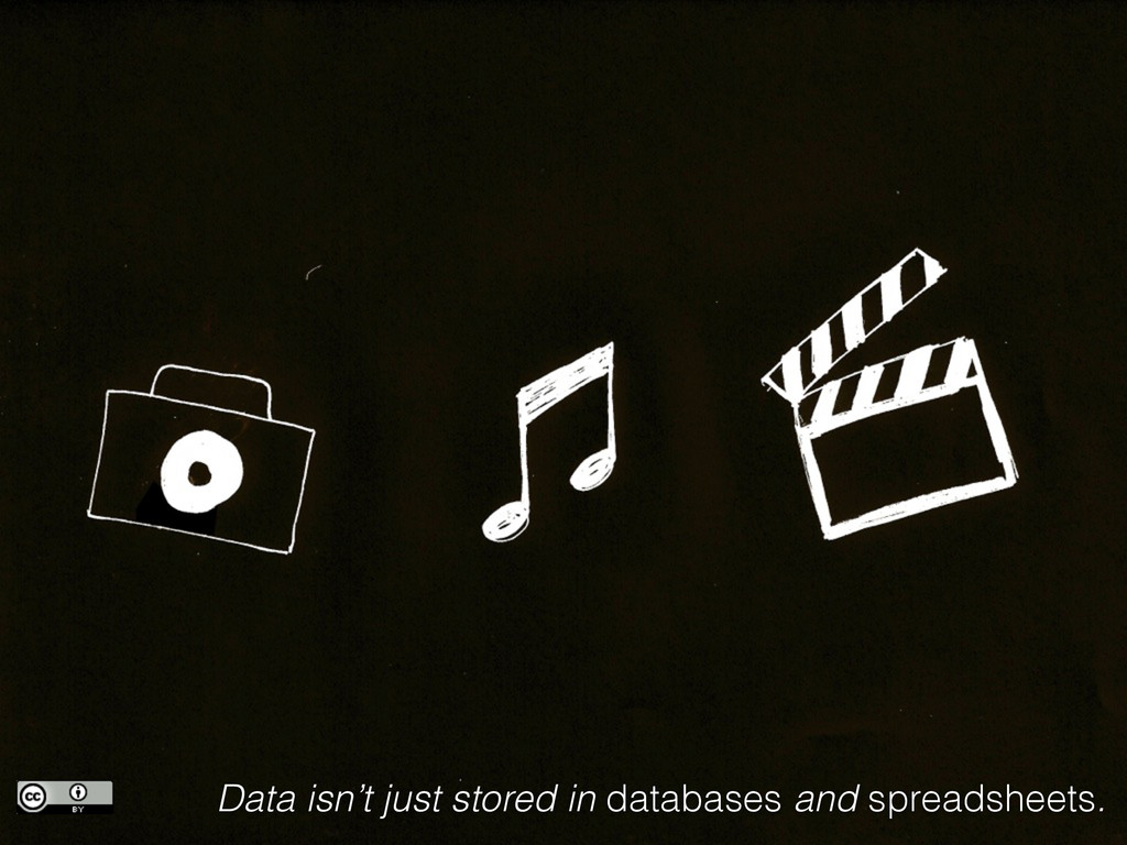 Data isn't just stored in databases and spreads...