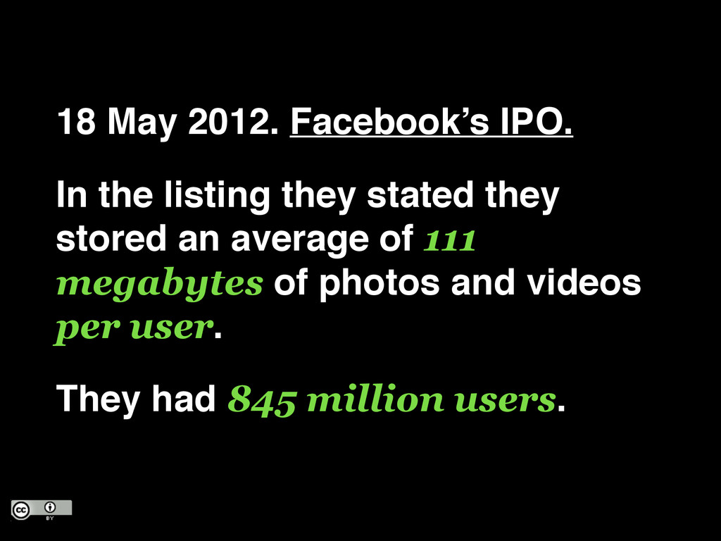 18 May 2012. Facebook's IPO.! In the listing th...