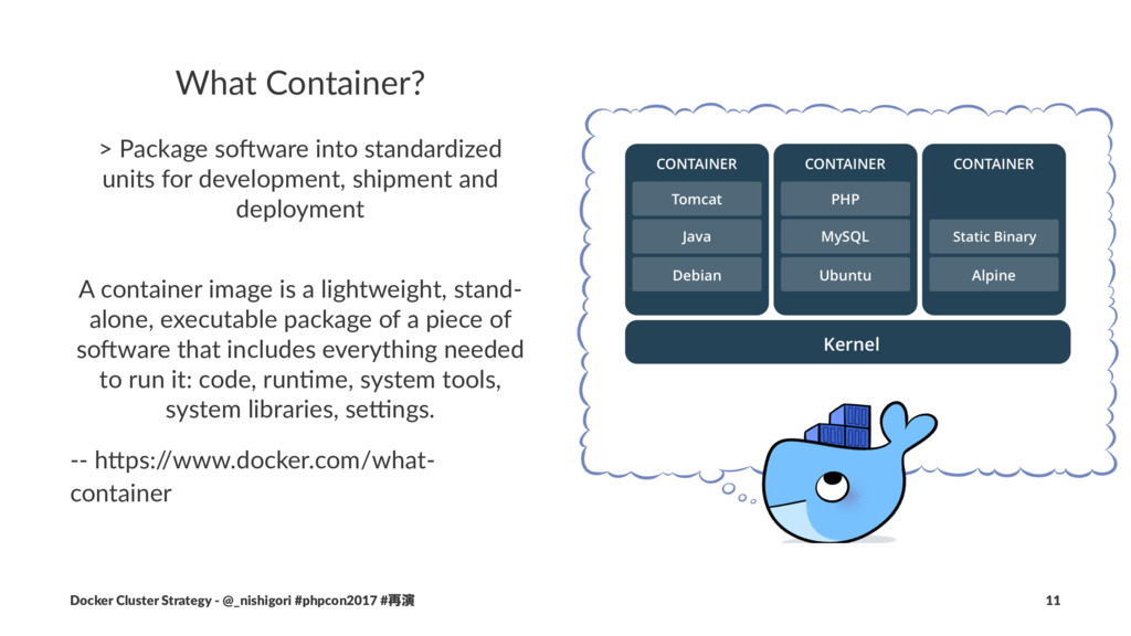 What Container? > Package so+ware into standard...