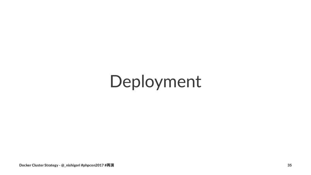 Deployment Docker Cluster Strategy - @_nishigor...