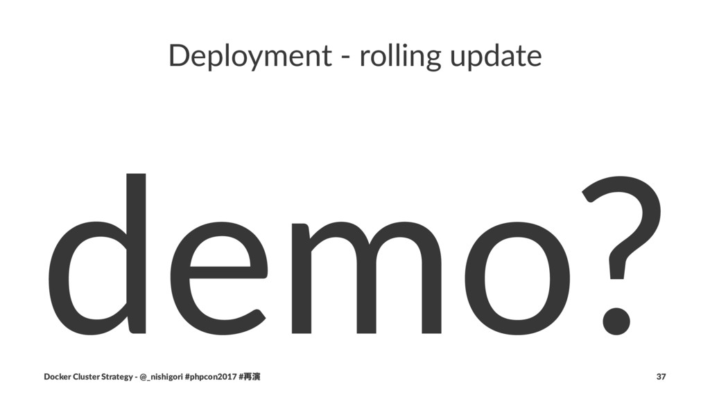 Deployment - rolling update demo? Docker Cluste...