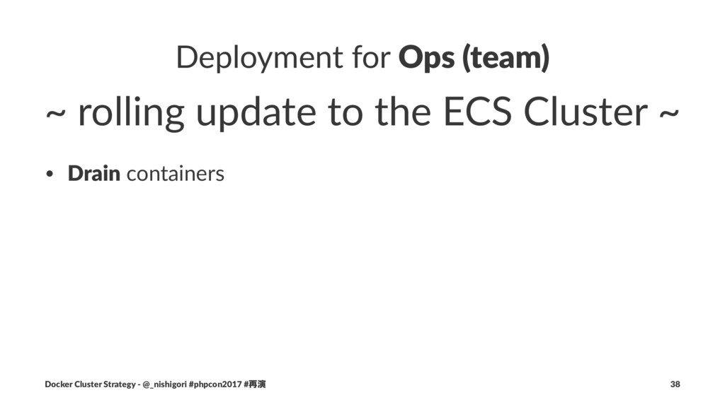 Deployment for Ops (team) ~ rolling update to t...
