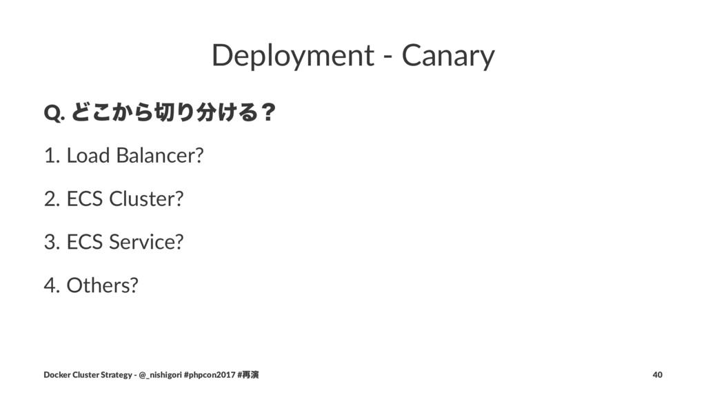 Deployment - Canary Q. Ͳ͔͜ΒΓ͚Δʁ 1. Load Balan...