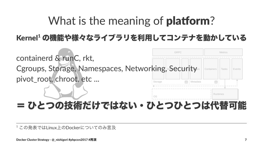 What is the meaning of pla$orm? Kernel1 ͷػ༷ʑͳ...