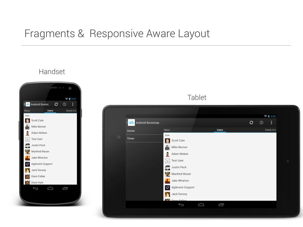 Fragments & Responsive Aware Layout Handset Tab...