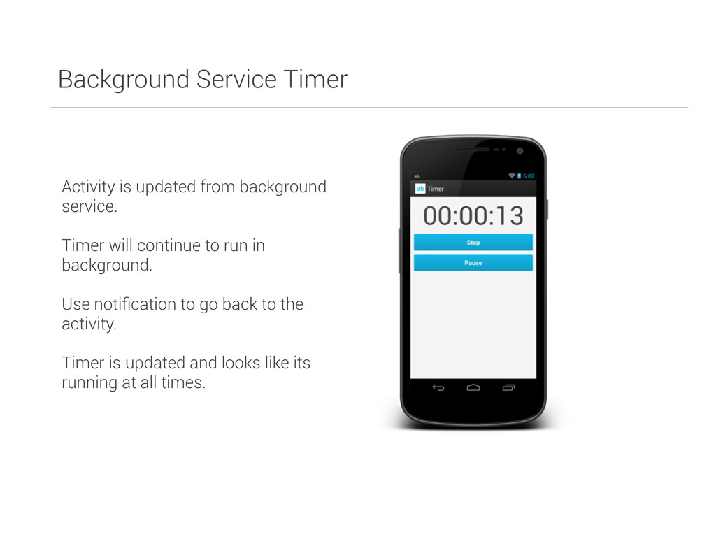 Background Service Timer Activity is updated fr...